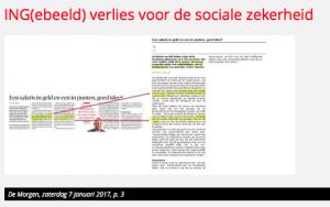 ING(ebeeld) verlies voor de sociale zekerheid