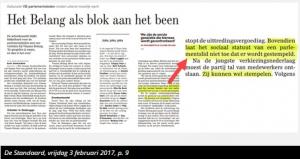 Op sommige Vlaams belangers drukt een stempel, op andere niet
